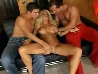 Stacy silver double penetration threesome