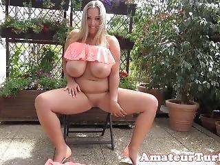 amatør, babe, stort bryst, fed, buttet, tysk, pink, fisse, alene, spreder