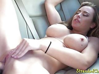 Bigtits Babe Pulled And Fucked On Backseat