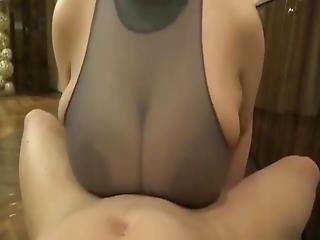 Sperma meine großen natürlichen Titten