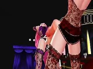 Mmd - Futa Girls Let Their Big Cocks Bounce