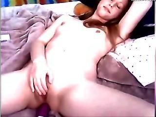 College Slut Fucks Her Ass On Webcam