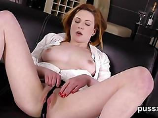European Cutie Enjoys Bizzare Sex Toy And Thursts Huge Sex Toy In Fuckbox