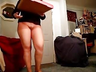Pizza Delivery Wearing Pantyhose