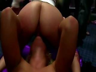 Horny Teens Have A Cock Sucking Party
