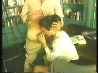 Blowjob, Brunette, Classic, Fingering, Hairy, Hairypussy, Librarian, Masturbation, Pussy, Retro, Spanking
