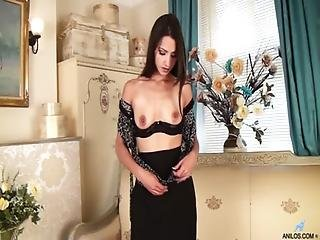 Bellissima, Mora, Francese, Masturbazione, Milf, Mamma, Madre, Orgasmo, Piccola, Seducente, Sexy, Da Sola, Calze