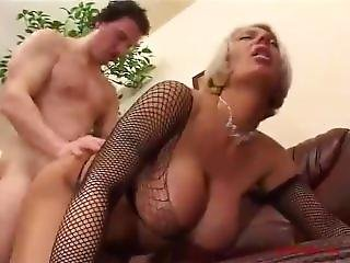 Big Silicone Tits Corina Curves Gets Drilled Wearing Fishnet.