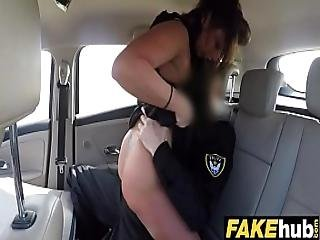 Fake Cop The Uniformed Policemans Cum Makes Her Late