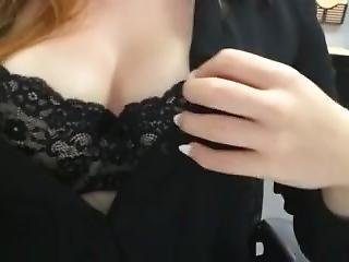 Just Playing With My Boobs At Work (slow-mo)