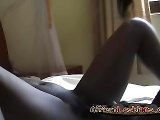 Black Lesbians Megan And Veronica Strip And Fuck In Bedroom