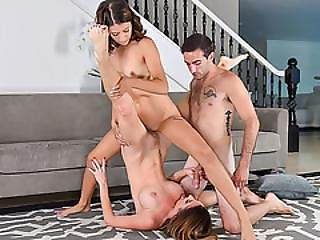Izzy And Mom Silvia Fucked By A Hot Stud