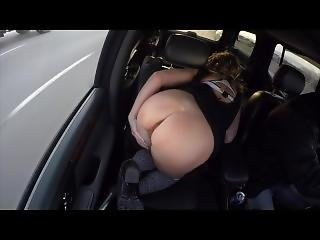 Milf Klassikougar Flashing Tanned Bubble Butt Public In Truck Cock Tease