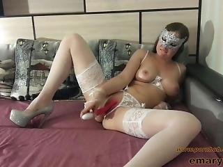 Clit Rubbing Vibrator Fuck And Orgasm In Sexy Lingerie
