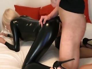 amateur, blondine, blasen, catsuit, fetisch, deutsch, latex