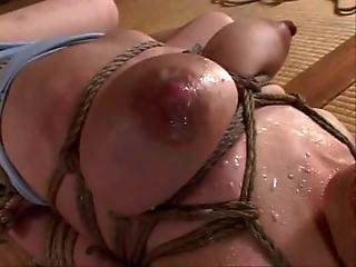 Bound And Milked All Over Her Face