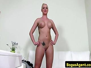 European Casting Hottie Toys Pussy In Office