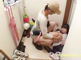 Jav Teen School Girl Ambushed Gives Deep Throat Gagging Gets Finger Squirt