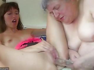 Oldnanny Tiny Teen And Chubby Granny Lesbians
