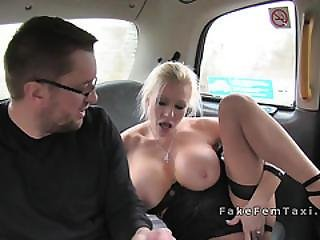 Massive Boobs Cab Driver Bangs In Back Seat
