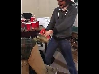 Asian Chewbacca Smacks Iron Man�s Ass With Rubber Duck On Drill