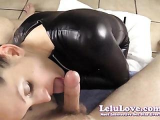 Giving You A Teasing Blowjob In My Catsuit To A Big Cumshot