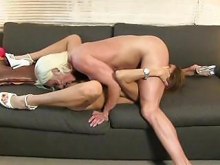 Hot Buffed Girl In Lesbian Action