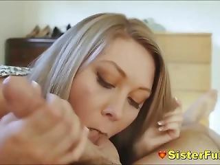 Sister Slides Stepbrothers Dick Inside Her Mouth