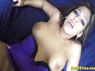 Busty Amateur Assfucked And Sprayed With Cum