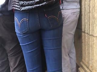 Tight Ass Levi's On Sexy Lady