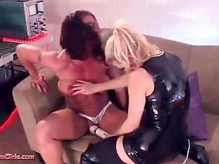 Muscular Latex Bitches Very Rough Strapon Fucking