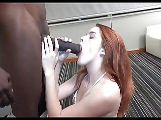 Pale Redhead Receives Creampied By Large Darksome Wang
