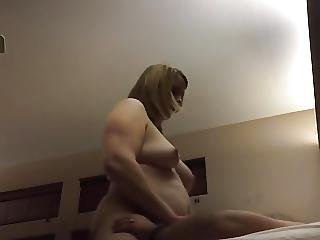 Spycam Wife Wipes Off Creampie