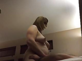 Spycam Wife Wipes Off Creampie