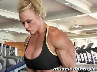 Huge Fbb Big Tits In Gym