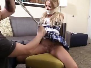 Chairtied Blonde In Uniform