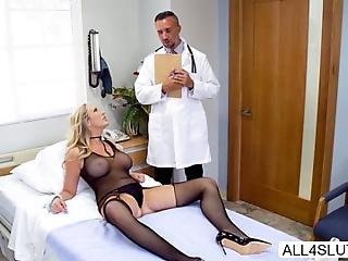 Hot Gorgeous Pornstar Brett Rossi Wants To Cure Her Fantasy And Addiction To Sex Doctor Lee Sent In To Cure Her But Failed To Do So During Examination Brett Wont Stop On Seducing The Doctor He Grabs His To Stops Brett From Being Too Lazy Brett Sucks His Cock And He Fucks Her Tits