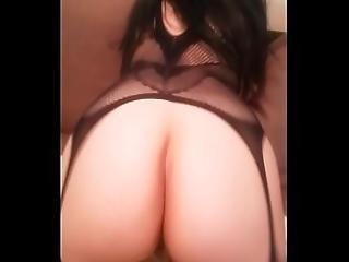 Brunette Bigass Riding Cock Assfucked