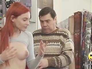 Naked And Funny Beautiful Redhead Shows Her Tits Prank