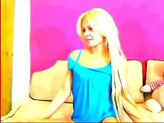 Russian Blond Teen Striptease