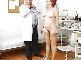 Aged, Closeup, Doctor, Enema, Gyno, Hospital, Mature, Milf, Mom, Pussy, Redhead, Speculum, Spit, Wife