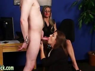 Euro Mistress Sucking Rod