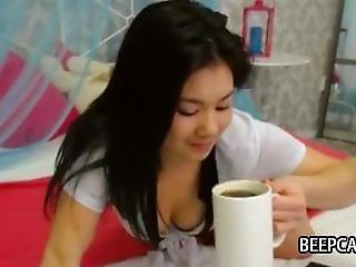 ερασιτεχνικό, ασιατικό, Cam Girl, Webcam