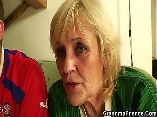 fod, fodboldt, bedstemor, matur, mor, gammel, penetration, fisse, trekant