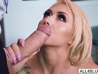blond, blowjob, klinik, deepthroat, tissemand, doggystyle, kneppe