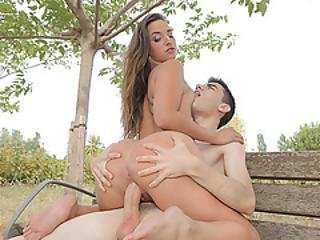 Jordi Destroys Gorgeous Amirah Adara Wet Pussy In Public