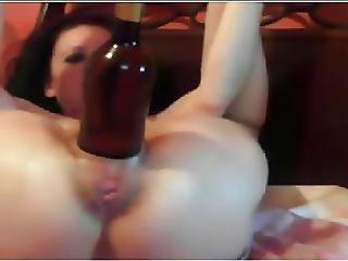 ano, botella, fisting, sexando, coño, sexando coño