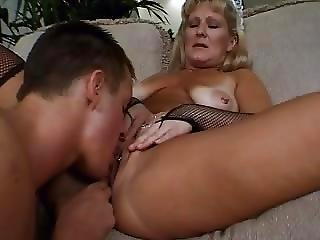 Young Guy Fucks Mature Maid