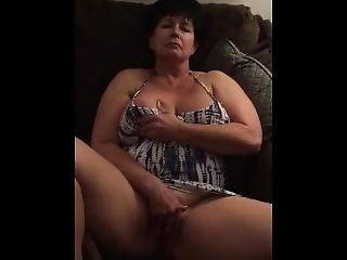 amateur, gros téton, canapé, masturbation, mature, milf