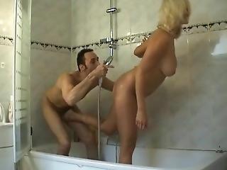 Ballbusting In Bathtub